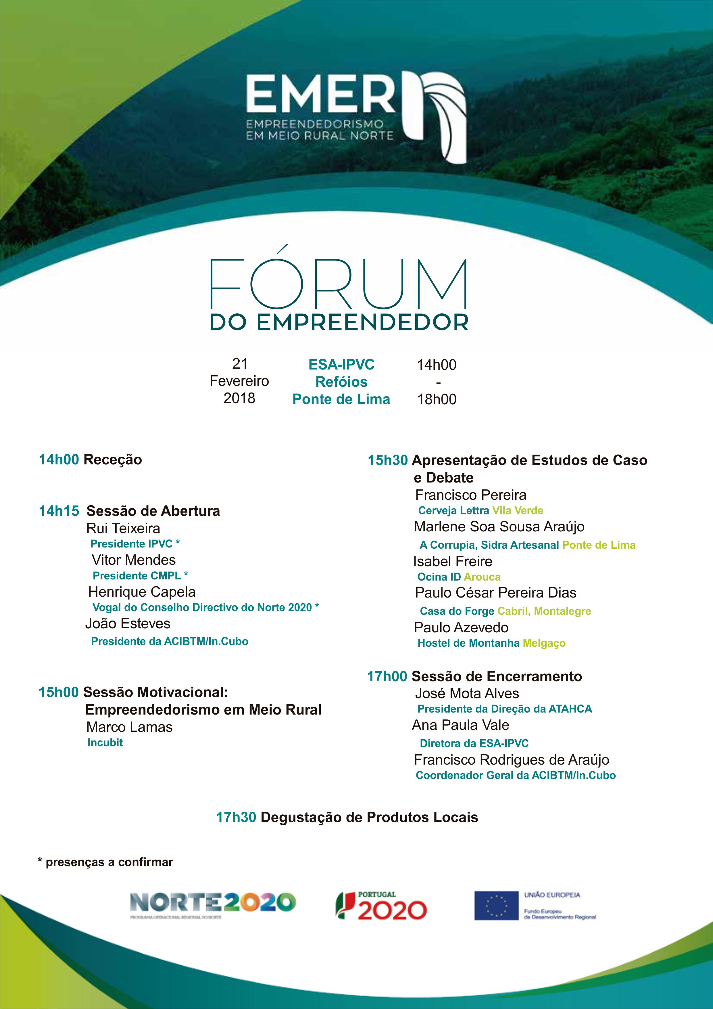 Convite I FÓRUM do EMPREENDEDOR EMER-N