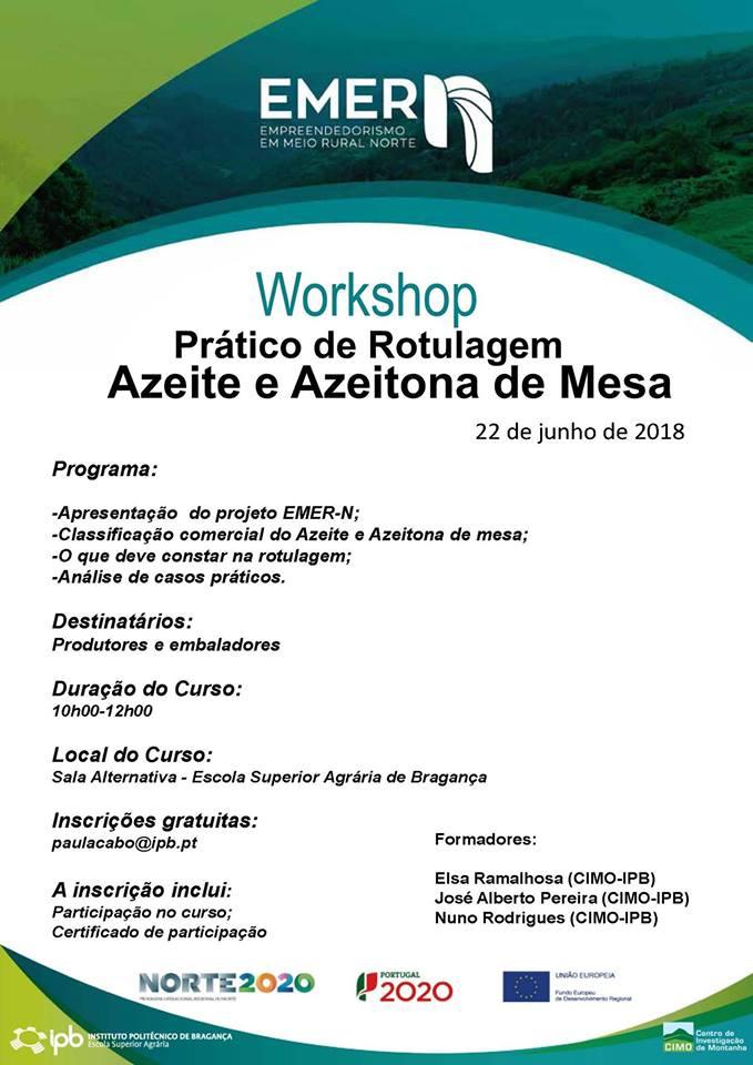 Workshop Prático de Rotulagem Azeite e Azeitona de Mesa