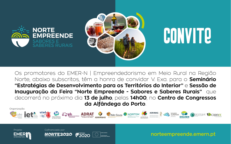"""Feira EMER-N """"Norte Empreende – Sabores e Saberes Rurais"""" – Alfândega do Porto"""