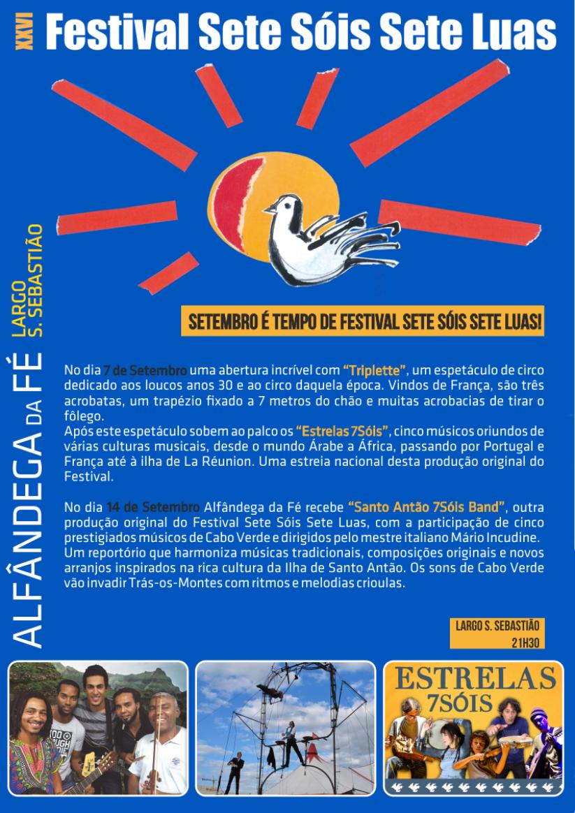 XXVI Festival Sete Sóis Sete Luas – Alfândega da Fé