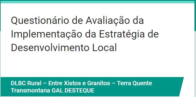 Questionário de Avaliação da Implementação da Estratégia de Desenvolvimento Local